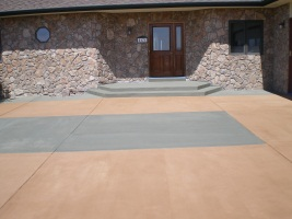 patio entrance micro-topping